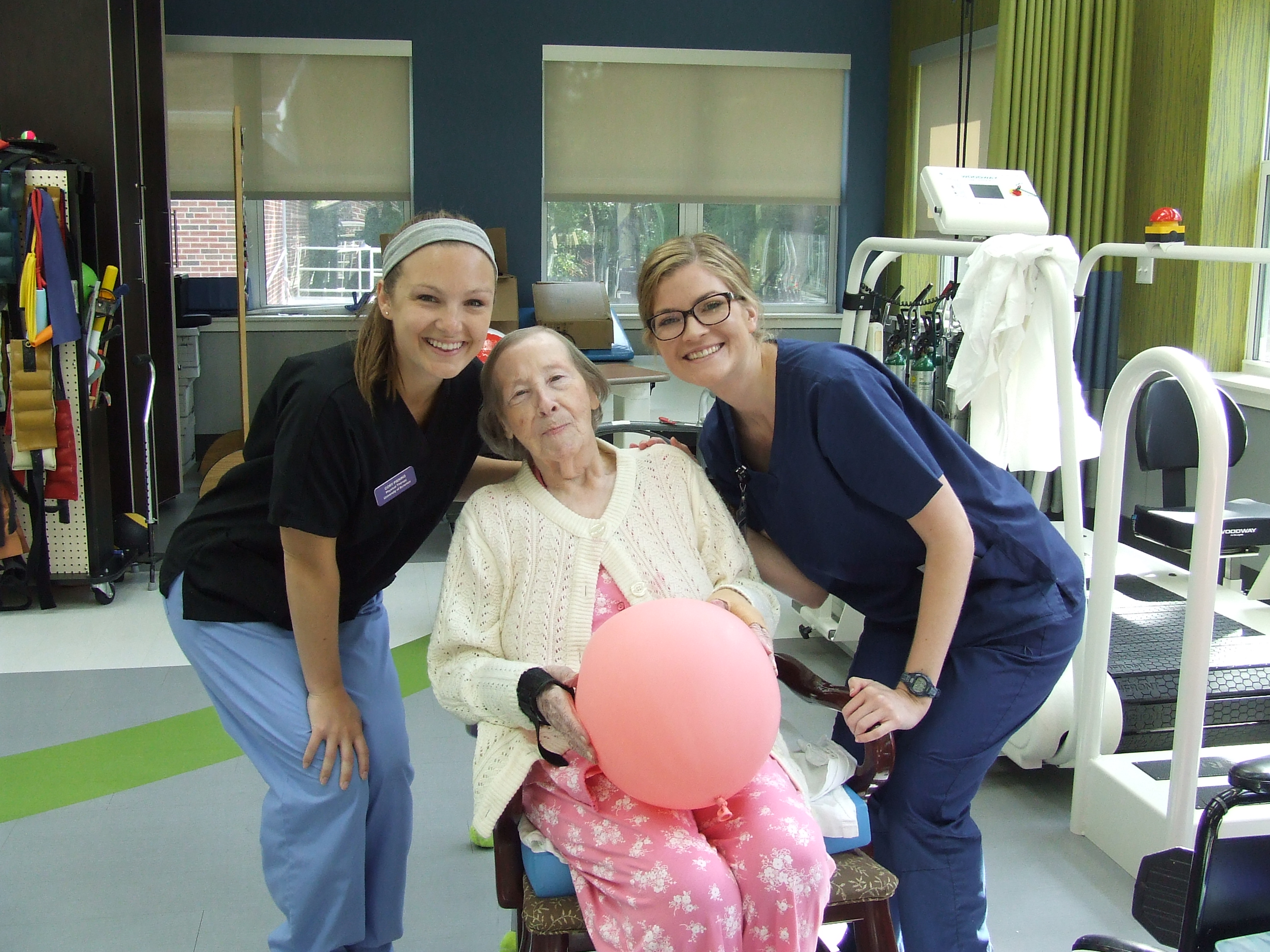 Resident in Brookside's Rehabilitation Facility