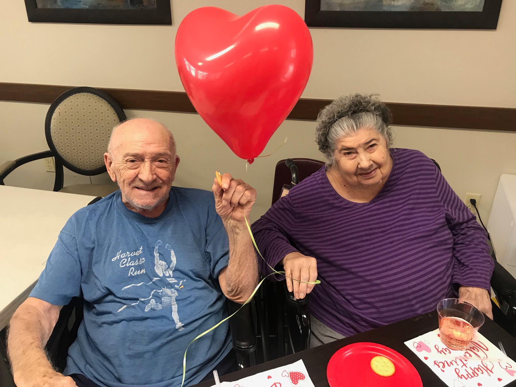 Residents celebrating Valentine's Day